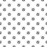 Naadloos patroon met voetbal Stock Foto's