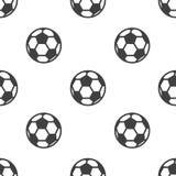 Naadloos patroon met voetbal Stock Foto