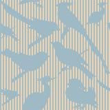 Naadloos patroon met vogels vector illustratie