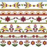Naadloos patroon met vogels en bloemen bloemen Stock Afbeeldingen