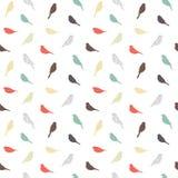 Naadloos patroon met vogels Geometrische Stijl Stock Fotografie