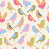 Naadloos patroon met vogels Vector illustratie royalty-vrije illustratie