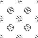 Naadloos patroon met Volleyball Stock Foto's