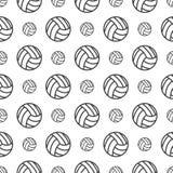 Naadloos patroon met Volleyball Stock Afbeelding