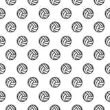 Naadloos patroon met Volleyball Royalty-vrije Stock Afbeeldingen