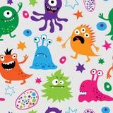 Naadloos patroon met vreemde monsters Royalty-vrije Stock Fotografie