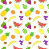 Naadloos patroon met vruchten stock illustratie
