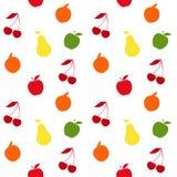 Naadloos patroon met vruchten en bessen Vector illustratie Royalty-vrije Stock Foto