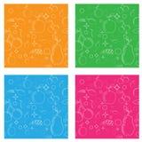 Naadloos patroon met vruchten zoals peer, appel kersen, pruimen en druiven Vector Royalty-vrije Stock Foto