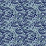 Naadloos patroon met water en golventextuur Royalty-vrije Stock Afbeeldingen