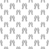 Naadloos patroon met waterdaling en hand Stock Afbeelding