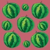 Naadloos patroon met watermeloen Royalty-vrije Stock Foto