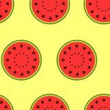 Naadloos patroon met watermeloen vector illustratie