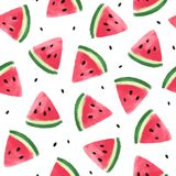 Naadloos Patroon met Watermeloenen Stock Illustratie