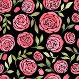 Naadloos patroon met waterverf bloemenelementen Royalty-vrije Stock Foto's