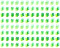 Naadloos patroon met waterverf geschilderde vierkanten van verschillende schaduwen van groen Royalty-vrije Stock Afbeeldingen