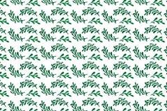 Naadloos patroon met waterverfbladeren royalty-vrije illustratie