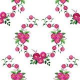 Naadloos patroon met waterverfboeketten met rozen Stock Foto's
