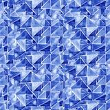 Naadloos patroon met waterverfdriehoeken Hand geschilderd behang Hand het getrokken borstel schilderen Ornament voor het verpakke Stock Foto