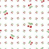 Naadloos patroon met waterverfkers Eindeloze het herhalen druktextuur als achtergrond Stoffenontwerp en behang vectorillustrati Stock Foto