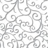 Naadloos patroon met wervelingen Royalty-vrije Stock Foto