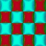 Naadloos patroon met wijnoogst gekleurde vierkanten Stock Foto's