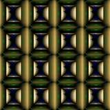 Naadloos patroon met wijnoogst gekleurde vierkanten Stock Afbeelding