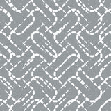 Naadloos Patroon met Witte Gestippelde Lijnen op Gray Background Stock Afbeeldingen