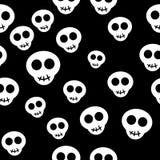 Naadloos patroon met witte schedels vector illustratie