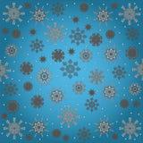 Naadloos patroon met witte sneeuwvlok Stock Foto