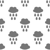 Naadloos patroon met wolk en waterdaling Royalty-vrije Stock Fotografie