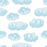 Naadloos patroon met wolken Royalty-vrije Stock Afbeeldingen
