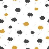 Naadloos patroon met wolken Vector Illustratie