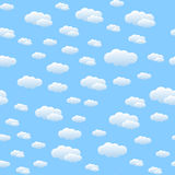 Naadloos patroon met wolken Stock Foto's