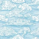 Naadloos patroon met wolken. Vector, EPS 10 Stock Foto's