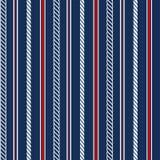 Naadloos patroon met zeevaartelementen Royalty-vrije Stock Afbeeldingen