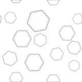 Naadloos patroon met zeshoeken Stock Afbeeldingen