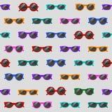 Naadloos patroon met zonnebril stock illustratie