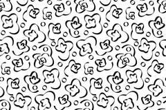Naadloos patroon met zwart abstract ornament vector illustratie