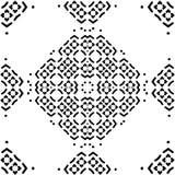 Naadloos patroon met zwart-wit mozaïekornament Abstracte bloemen vectorillustratie als achtergrond Royalty-vrije Stock Afbeelding