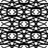Naadloos patroon met zwarte abstracte ornamenten Stock Afbeeldingen
