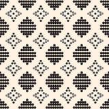 Naadloos patroon met zwarte cirkels en grijze diamanten Royalty-vrije Stock Afbeelding