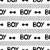Naadloos patroon met zwarte woordenjongen Royalty-vrije Stock Fotografie