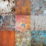 Naadloos patroon Metaal roestige die oppervlakte met gebarsten verf wordt behandeld Royalty-vrije Stock Foto's