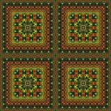 Naadloos patroon, olieverfschilderij Stock Afbeeldingen