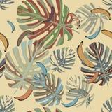 Naadloos patroon op een beige achtergrond Royalty-vrije Stock Fotografie