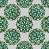 Naadloos patroon op een grijze achtergrond Royalty-vrije Stock Foto