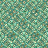 Naadloos patroon op een stof. Stock Fotografie