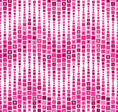 Naadloos patroon op een witte achtergrond Heeft de vorm van een golf Bestaat uit geometrische elementen De elementen hebben een v Stock Afbeeldingen