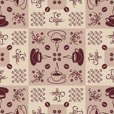 Naadloos patroon op koffiethema Royalty-vrije Stock Afbeeldingen